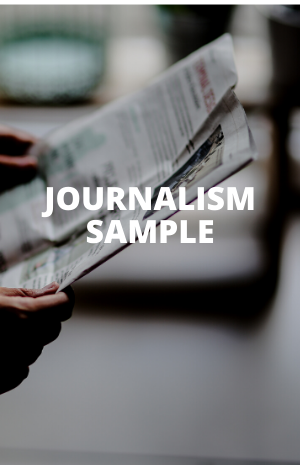 JOURNALISM SAMPLE
